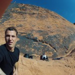 Climbing in Red Rocks, Nevada