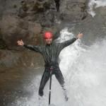 Rappelling over waterfalls in Baños Ecuador